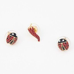 💧SWAROVSKI LISABEL cute ladybug earrings